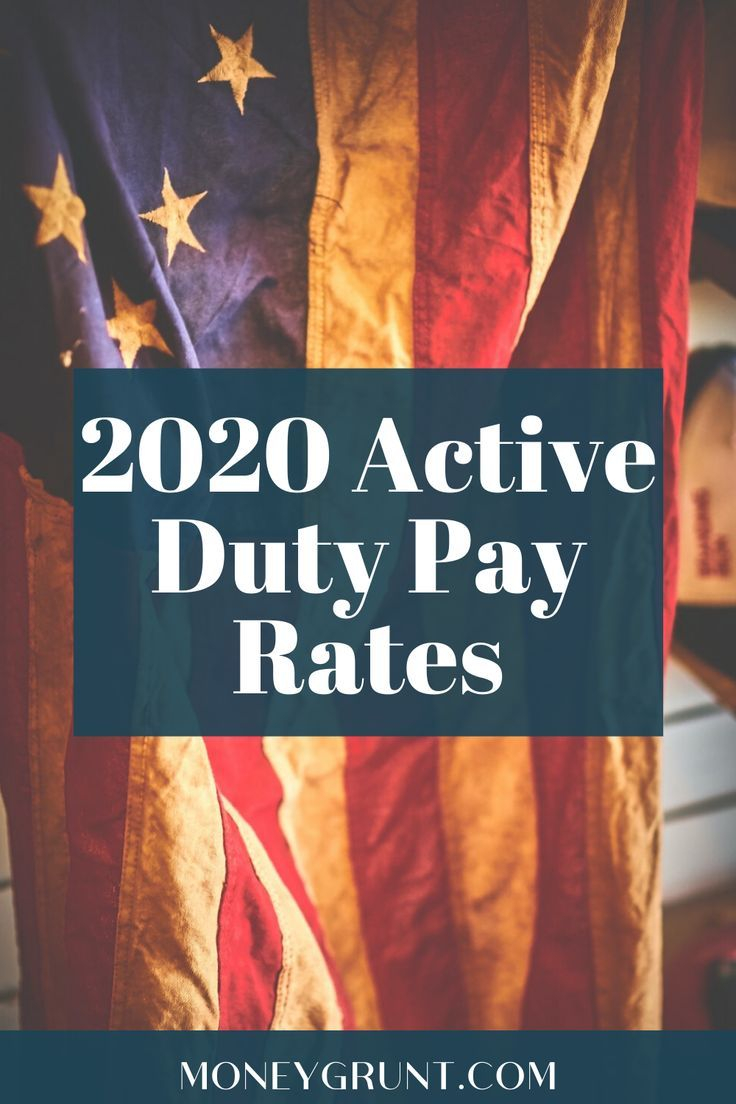 2020 Military Pay Rates For Active Duty - Money Grunt In