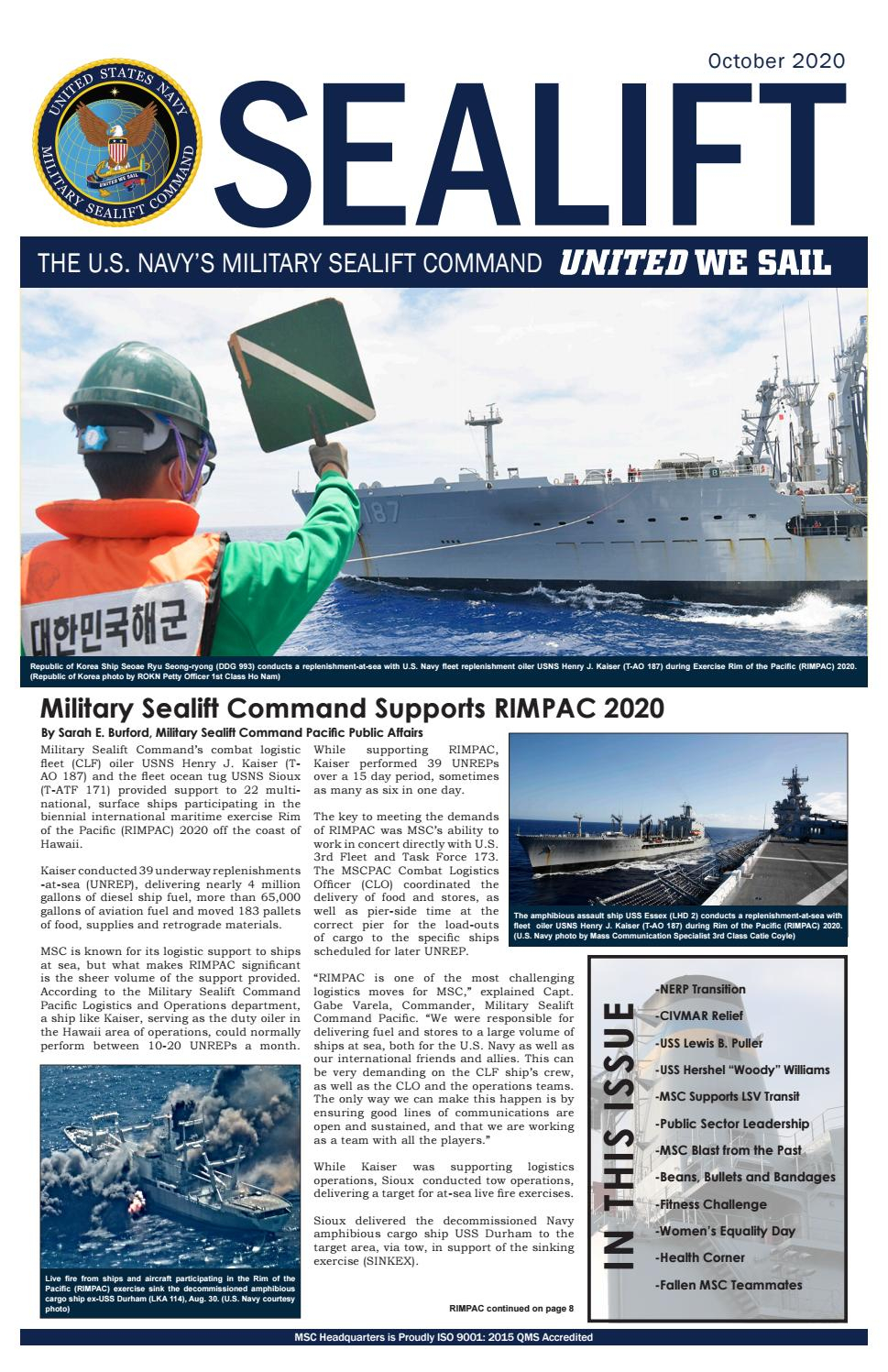 Sealift October 2020Military Sealift Command - Issuu
